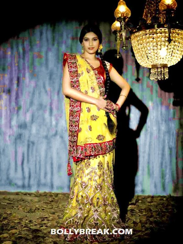 divya bhandari in a yellow sari - Divya Bhandari Indian outfit photo shoot