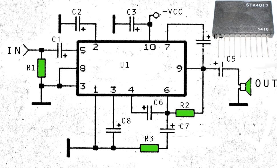 6 5w audio power amplifier