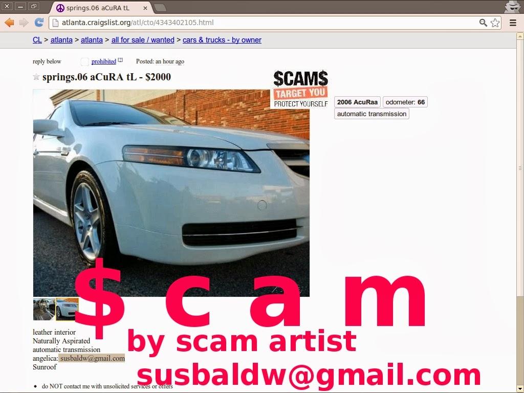 Http atlanta craigslist org atl cto 4343402105 html springs 06 acura tl 2000 by scam artist susbaldw gmail com