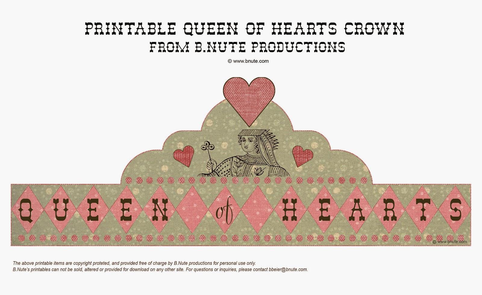 Reina de Corazones: Corona para Imprimir Gratis. Imprimible y ...