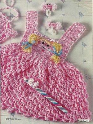 Vestidos de Crochê para bebês