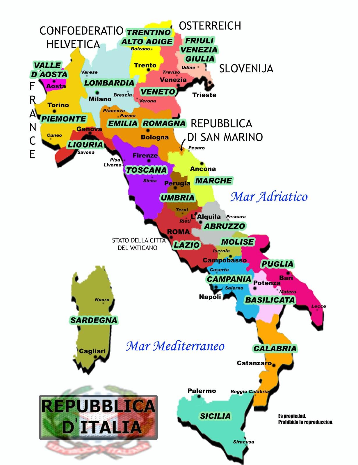 Mapa De Italia Por Provincias