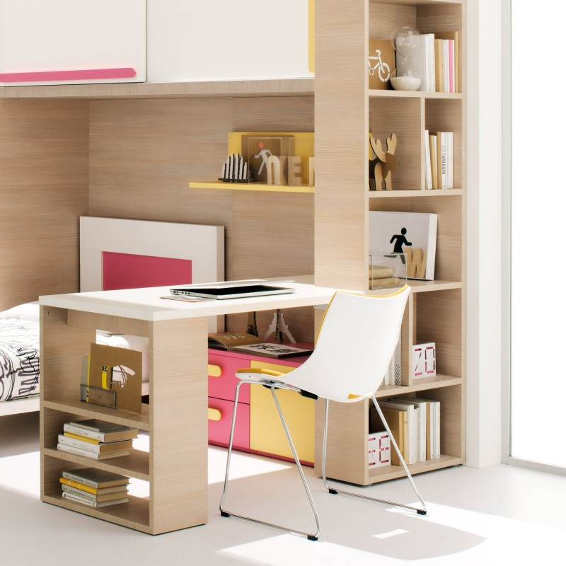 Habitaci n peque a para chicas dormitorios colores y estilos for Dormitorios modulares matrimoniales