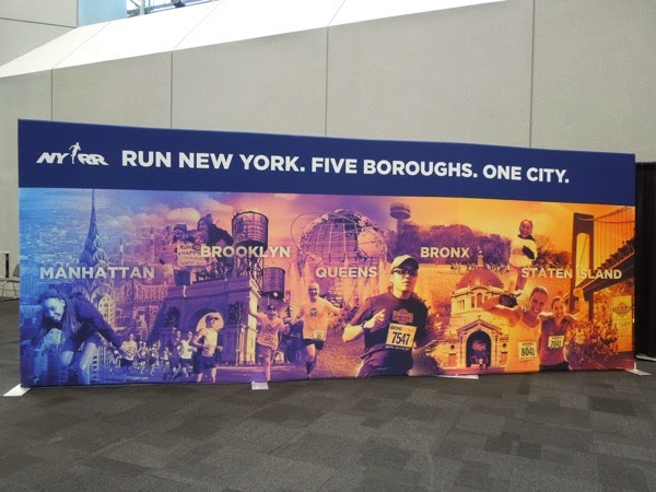 New York Marathon 5 Boroughs Expo poster 2015