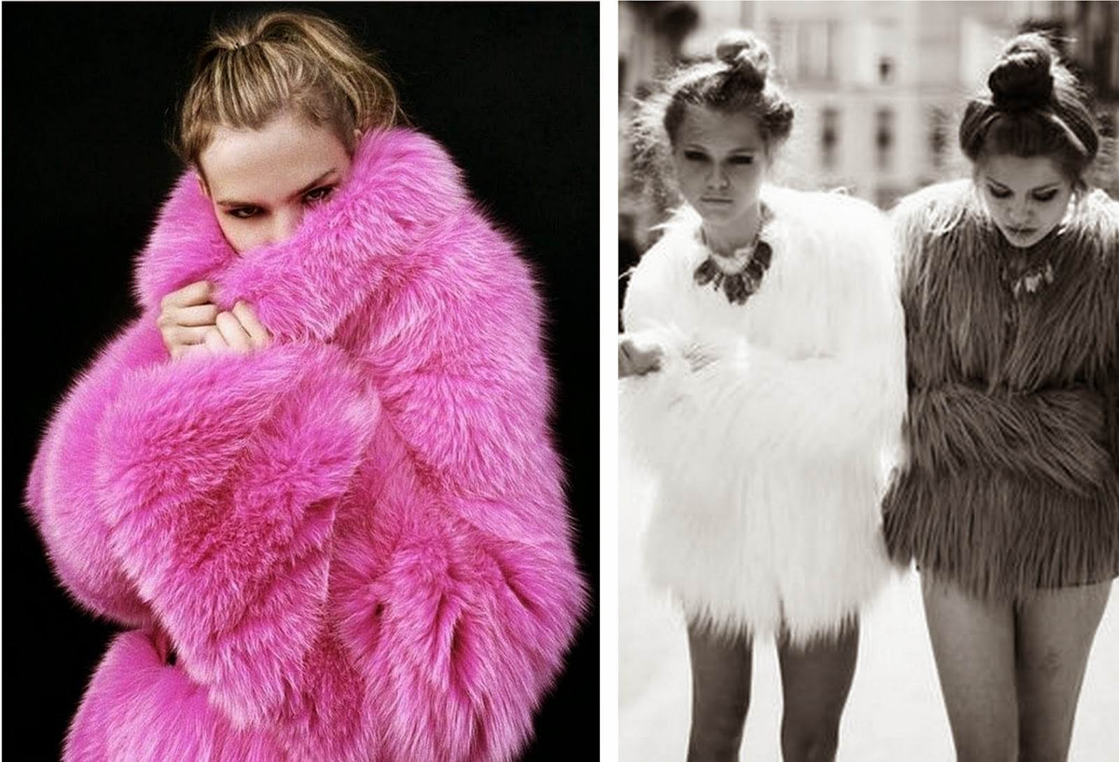 TREND 1 : FAUX FUR COATS - TIME AND GLAM