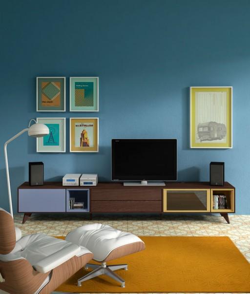 Ideas muebles vintage para el comedor habitaciones for Modulares de comedor