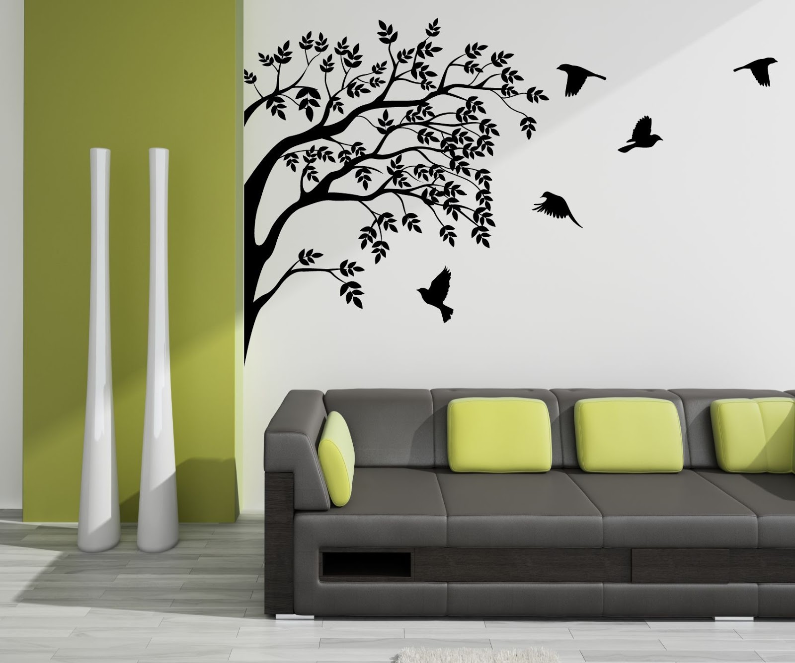 Vinyl wall designs services for Wall design in hall