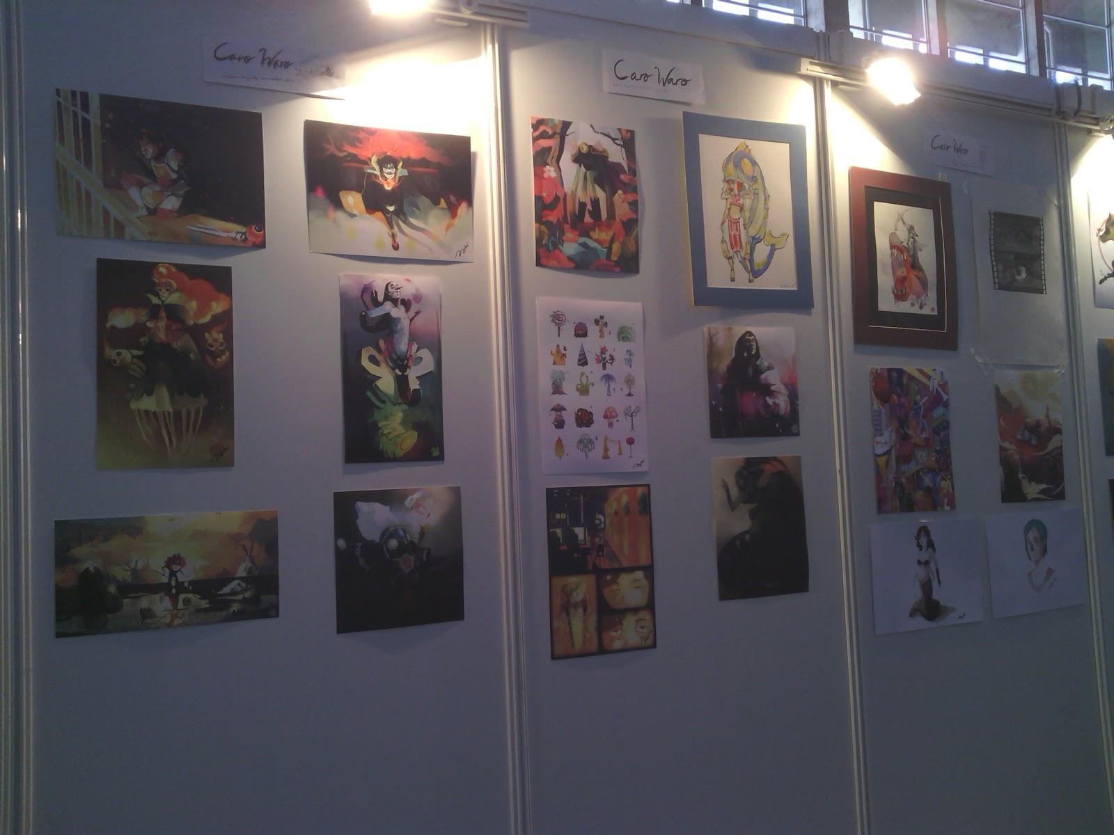 exposición de originales en la Comic Con Spain