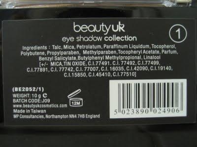 beautyuk eye shadow no 1 palette Pastels