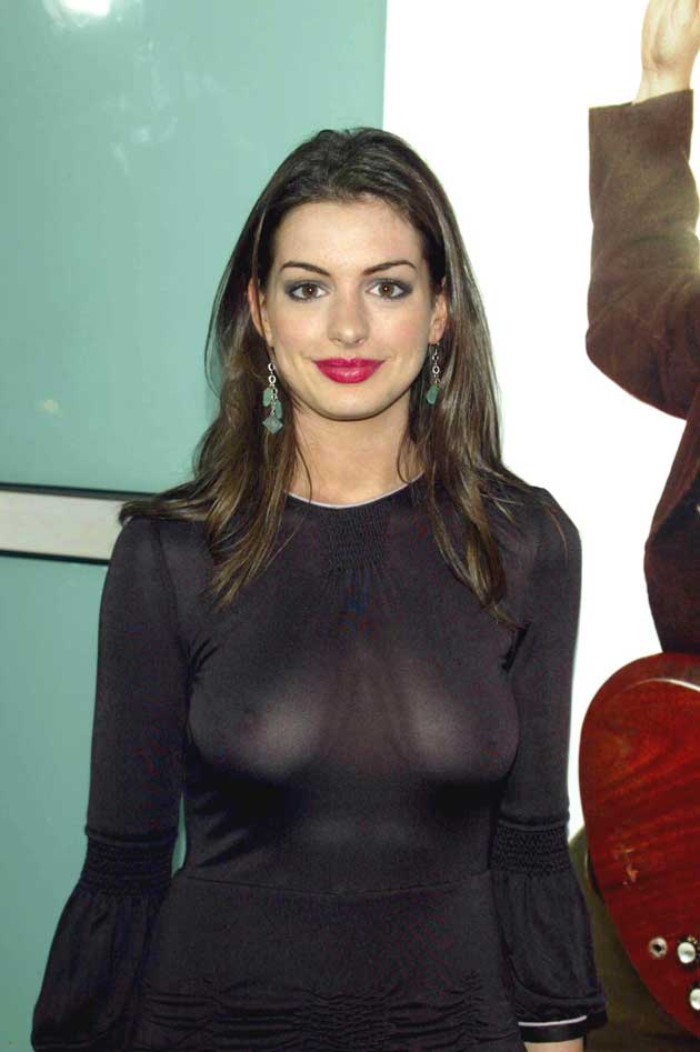 Sexy Anne Hathaway Nipple Slip