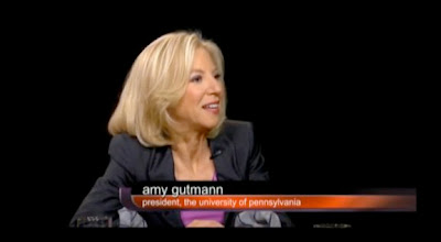 UPenn and Amy Gutmann and Charlie Rose