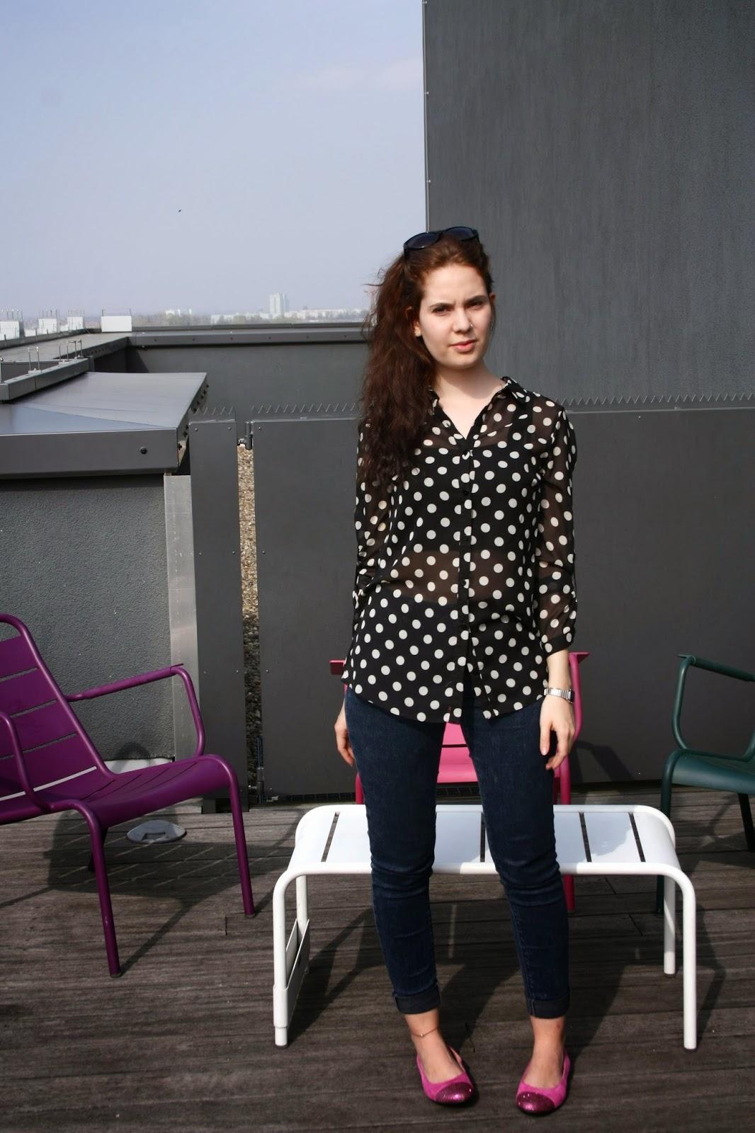 OOTD Clarks Ballerinas Flussperle Blog primark Urban Outfitters Tom Ford Sonnenbrille
