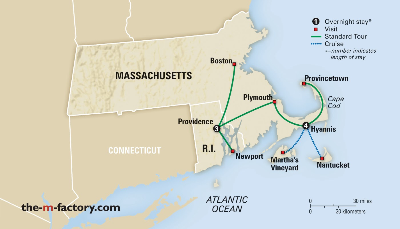 map courtesy of collette vacations