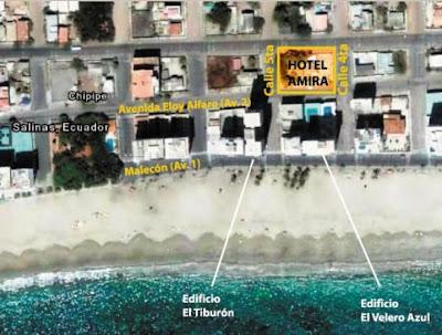 como llegar al Hotel Amira Hoteles en Salinas frente al mar