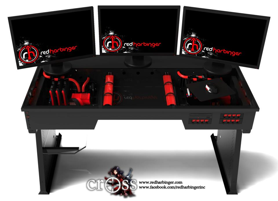Red Harbinger Synthesizes the Computer and Desk Together | Video Games
