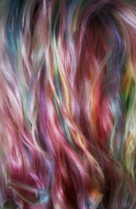 girls with pastel rainbow scene hair sex porn images