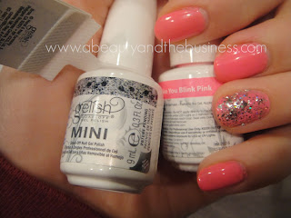 gelish, gelish trends, gelish make you blink pink, gelish make you blink pink swatch, gelish trends, gleish trends am i making you gelish, neon pink gel polish