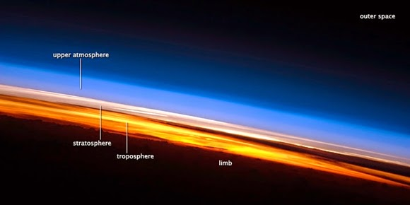 Pemandangan Sunset dari Luar Angkasa