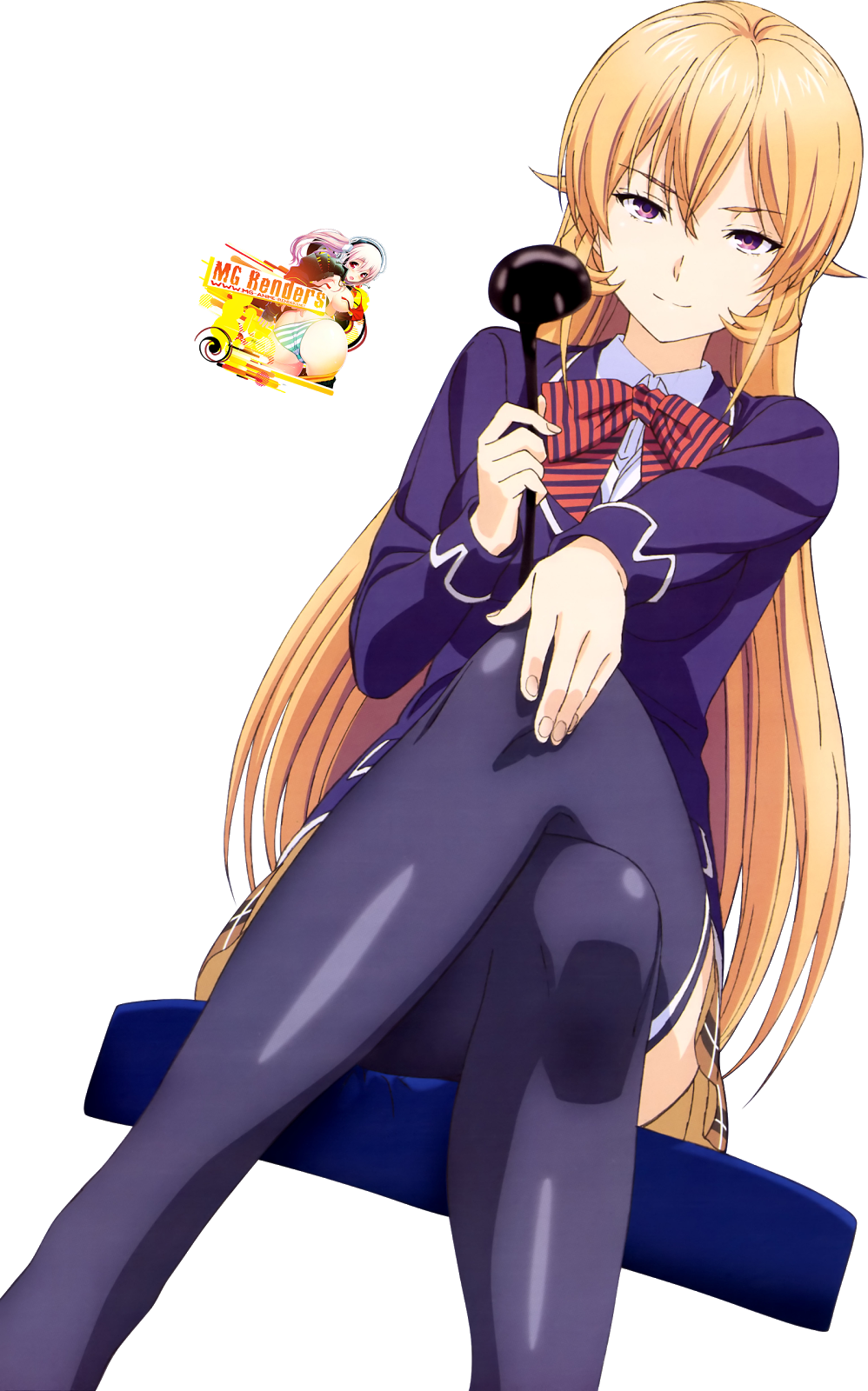 Tags: Anime, Render,  Crossed Legs,  Nakiri Erina,  Shokugeki no Souma,  PNG, Image, Picture