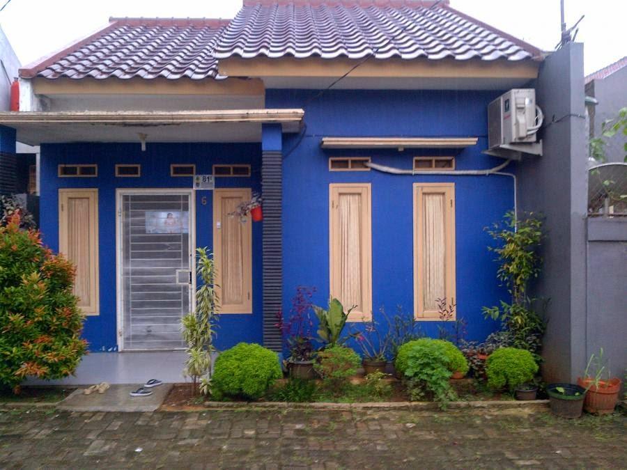 Rumah Minimalis Kombinasi Cat Warna Biru | rumah-minimalis.web.id