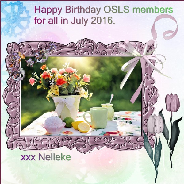July 2016 - Happy Bday OSLS members