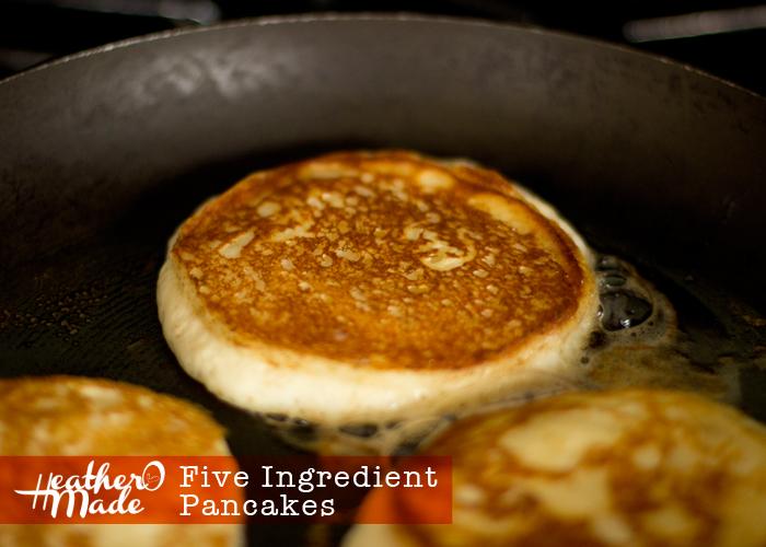 five ingredient pancakes. recipe.