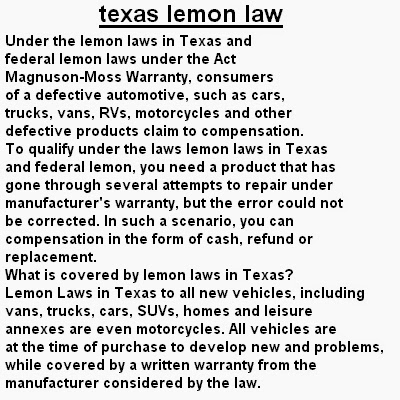Lemon Law Texas >> Proudweight Texas Lemon Law This Is Different