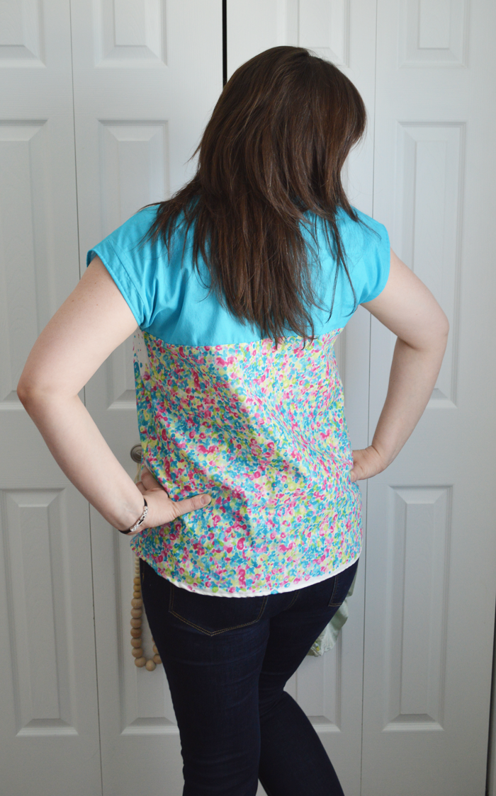 Nani Iro Fuwari fabric Zippy Top sewn by Cicely Ingleside
