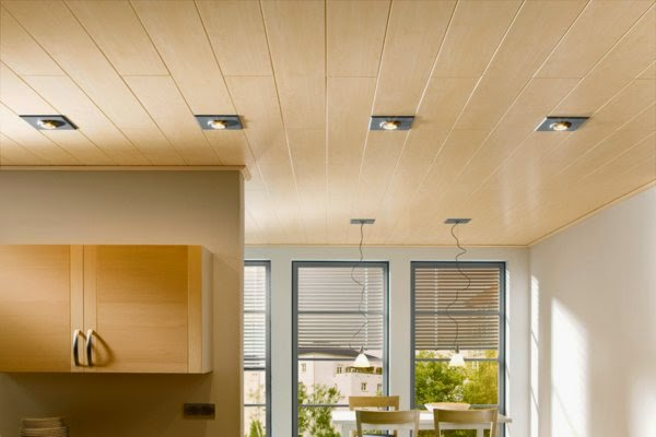 20 luxury false ceiling designs made of pvc gypsum board for Moderne holzdecken beispiele