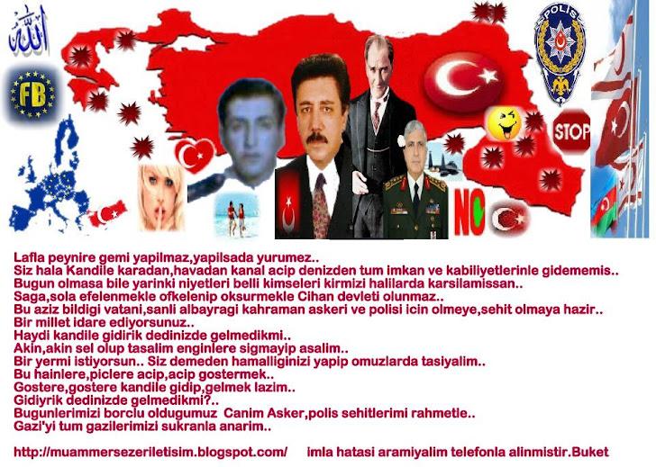 NE MUTLU TURKUM DIYENE DIYEMIYENLERIN CANI CEHENNEME ACILIMI ISTIYORUZ..BUKET TURKAY
