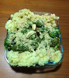 Brócolis com farofa de castanha do Pará