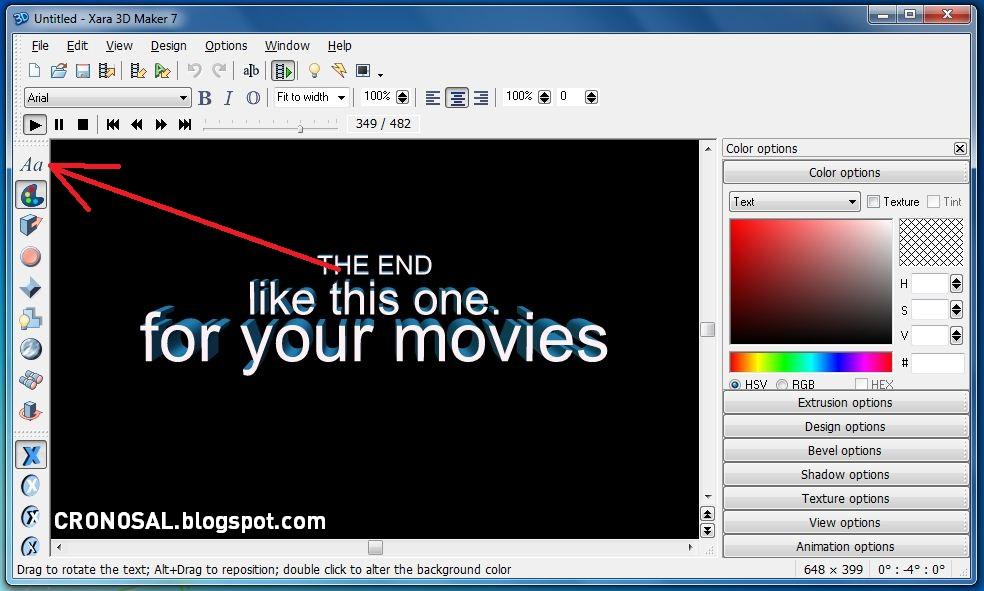 Cara Membuat Logo / Tulisan 3D di Komputer dengan Mudah