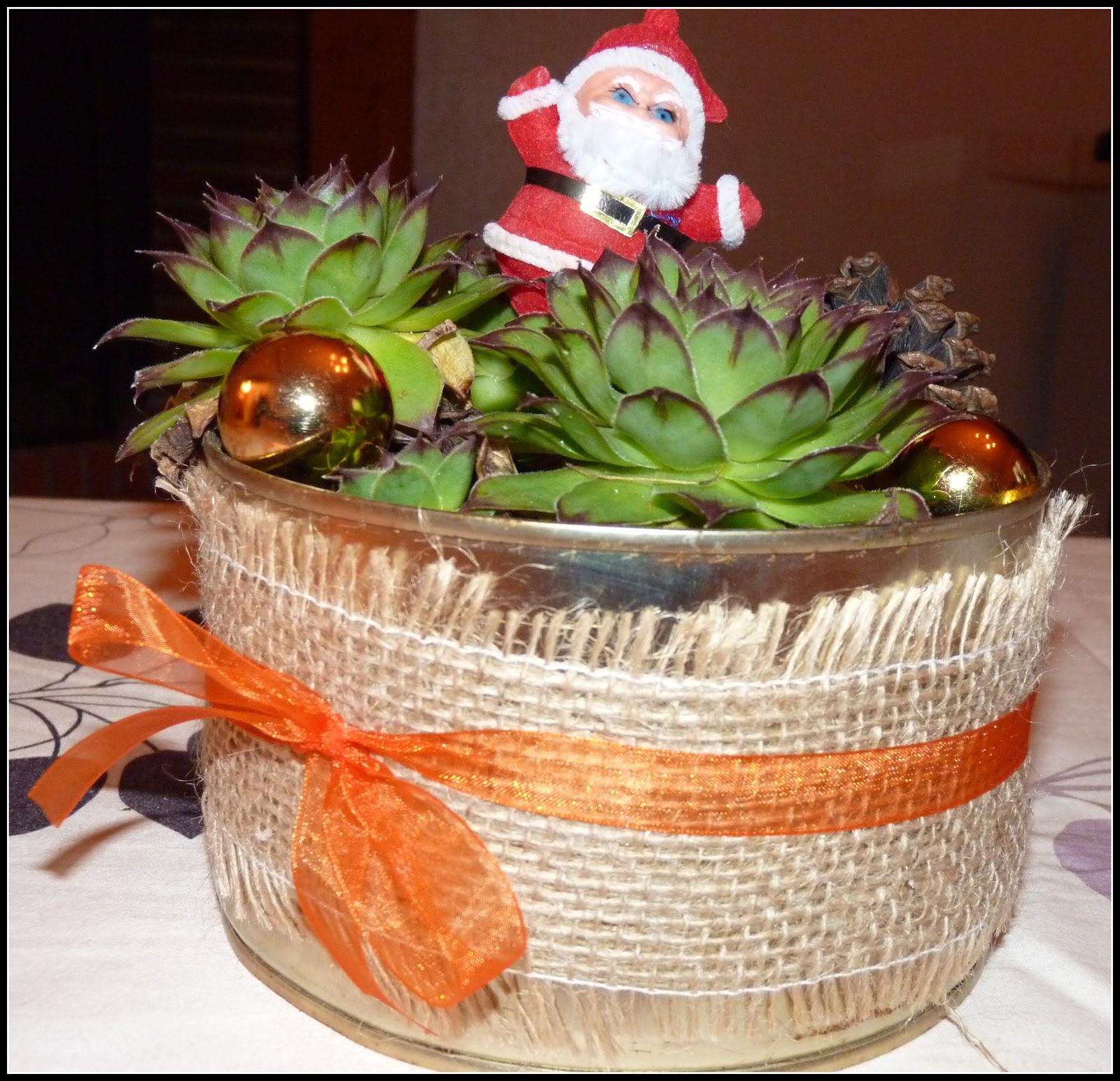 Mon blog une petite composition florale pour les f tes - Grosse boite de conserve ...
