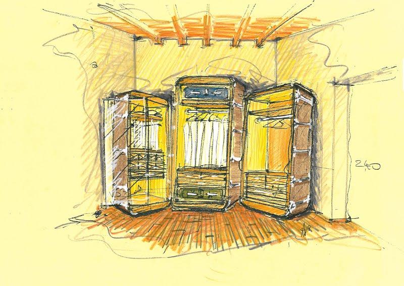 Populaire Vent'anni di disegni dell'Arch. Antonio Saporito: Schizzo di  YO39