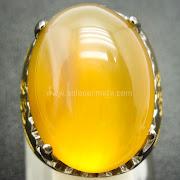 Cincin Batu Permata Yellow Calchedony - Sp768