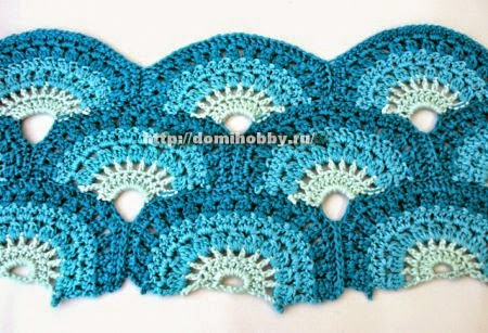 Un hermoso punto al crochet con patrón y paso a paso en fotos