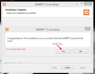 Opsi untuk membuka Xampp Control Panel