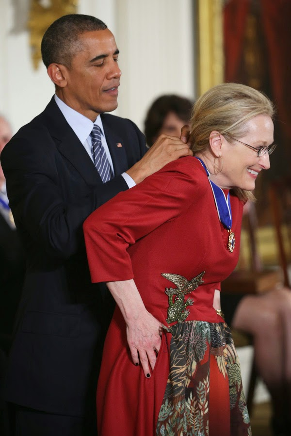 Barack Obama and Meryl Streep in Pictures