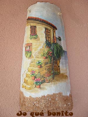Como decorar tejas aprender manualidades es - Papel de arroz para decorar muebles ...