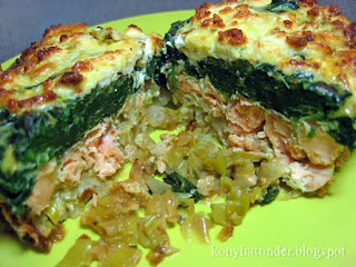 layered-salmon-with-leek-spinach-feta