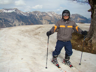 Aula de ski em Axalp, Suíça