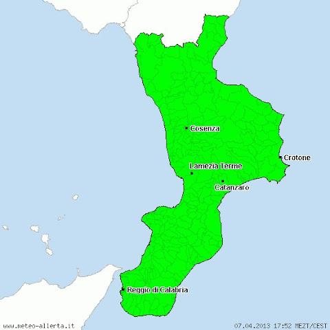Allarmi per piogge forti per la Calabria