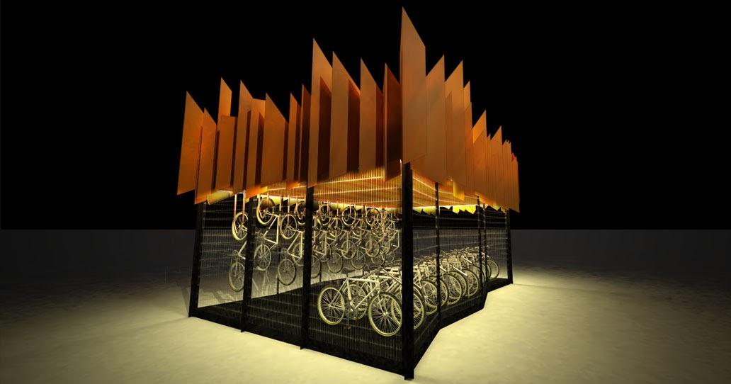 Estacionamento para bicicletas em estações