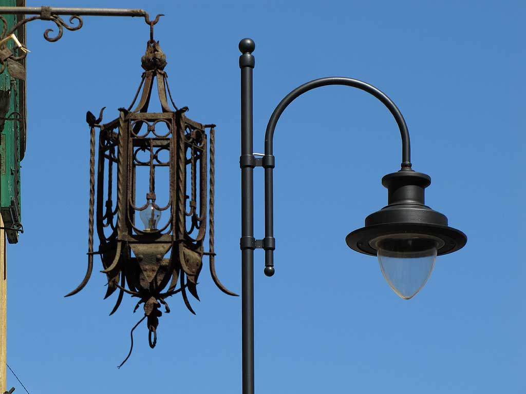 Old and new street lights, Livorno