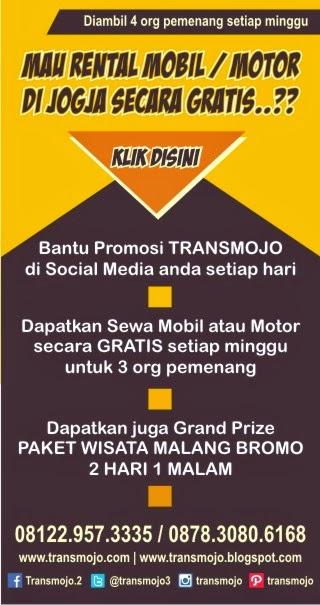 Promo Gratis Rental Mobil di Jogja