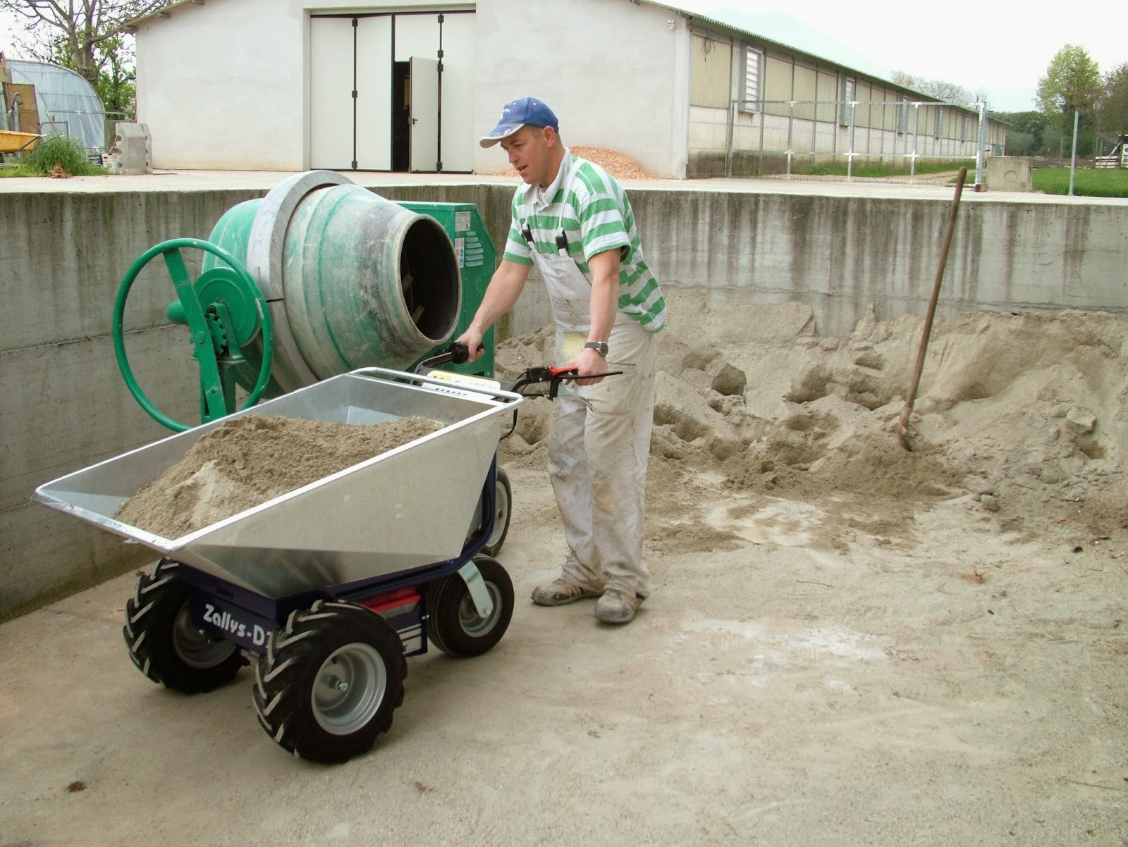 Powered Wheelbarrow Zallys Made In Italy Quality