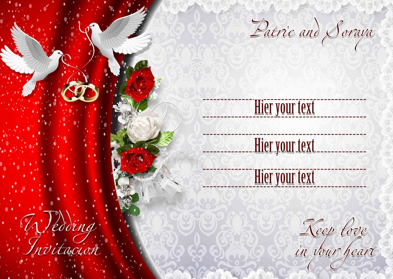 Wedding invitation psd templates stopboris Choice Image