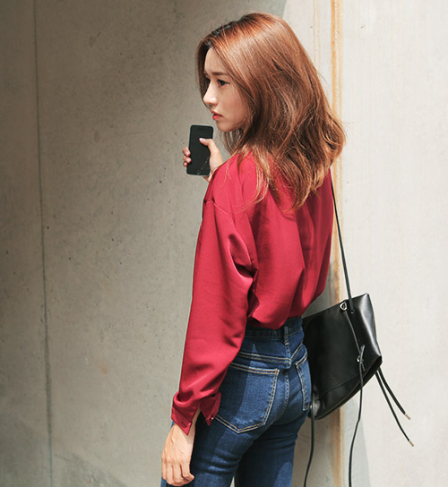 Two Front Chest Pocket Blouse