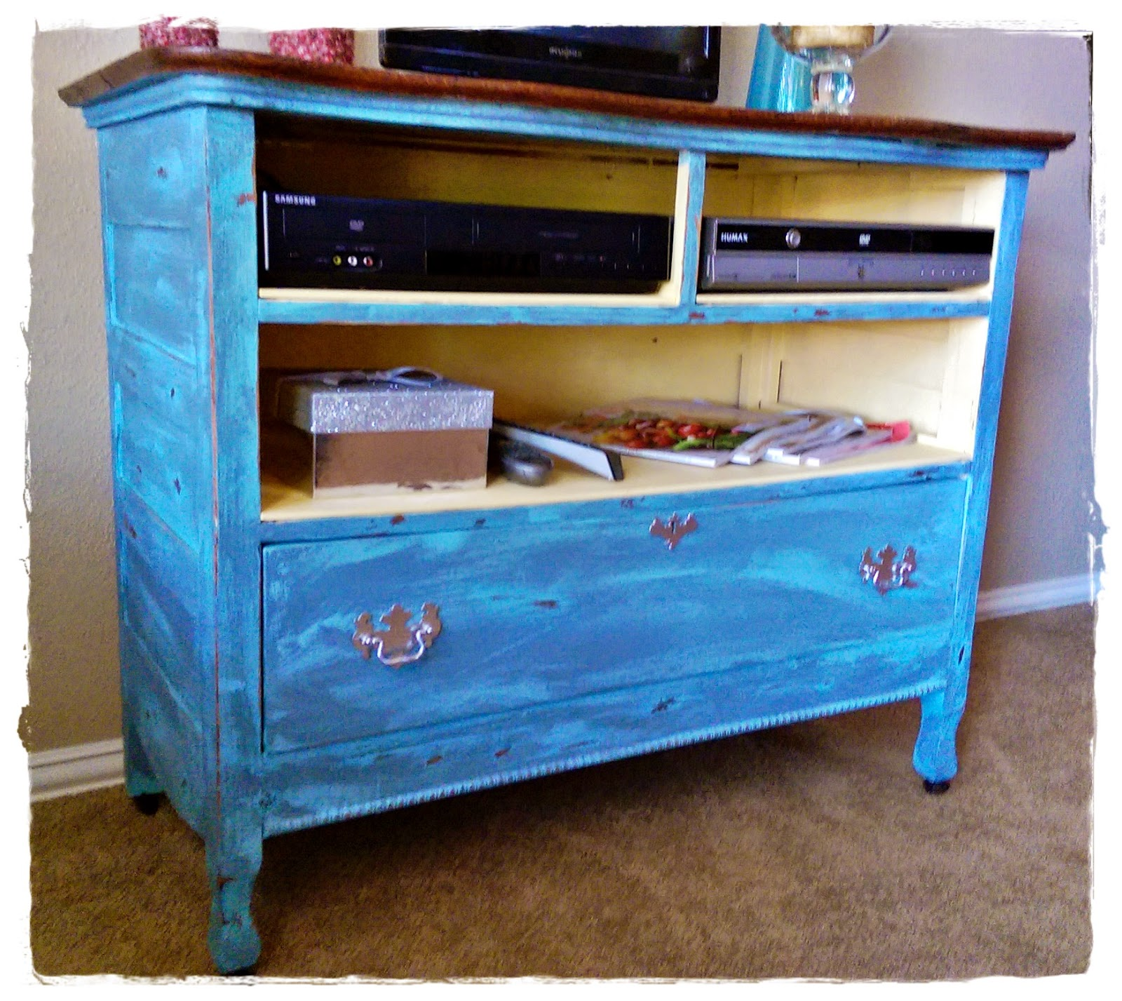 Meg made creations how to make wood furniture look old antique distressed with paint Restoring old wooden furniture