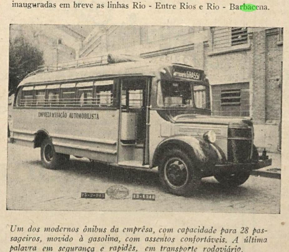 Linha de onibus Barbacena x Entre Rios